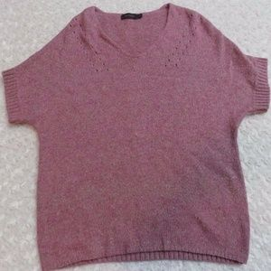 The Limited Pink Short Sleeve Knit Shirt